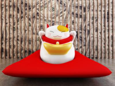 招财猫-可拼装-3d打印模型
