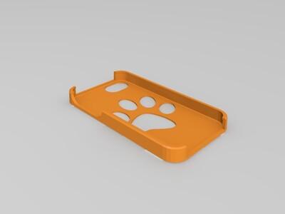 猫爪手机壳-3d打印模型