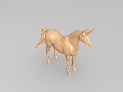 高细节独角兽-3d打印模型