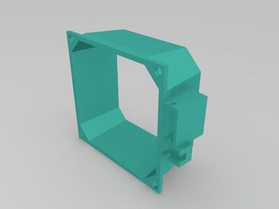 8厘米风扇导风罩-3d打印模型