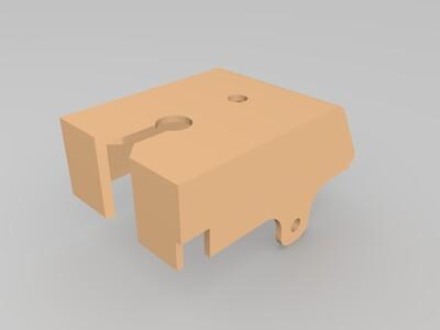 挤出机头壳-3d打印模型