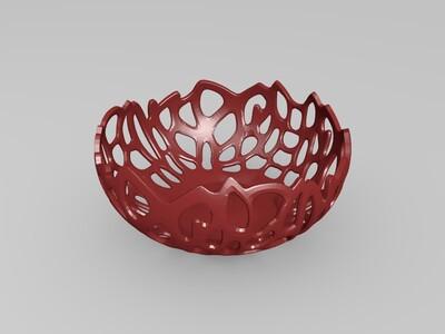 水果盘-镂空-3d打印模型