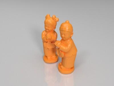 金童玉女-3d打印模型