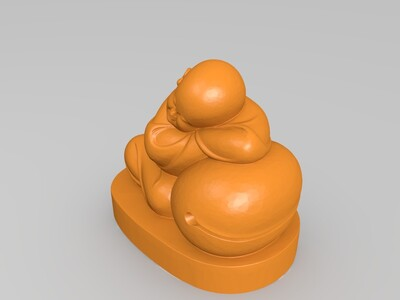 睡着的小和尚-3d打印模型