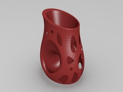 创意镂空花盆-3d打印模型