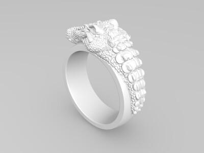 鳄鱼戒指-3d打印模型