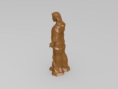 女性人物雕像-3d打印模型