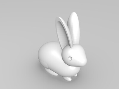 小兔灯-3d打印模型