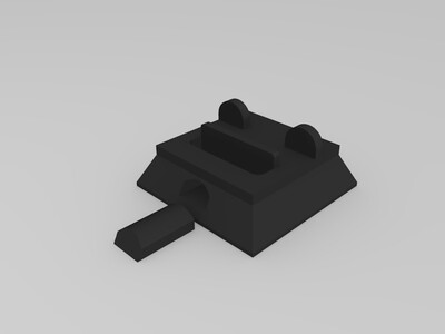 三脚架用手机支架-3d打印模型