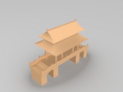 武汉晴川阁-3d打印模型