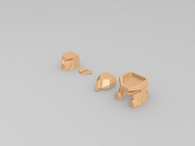 变形金刚人物头-3d打印模型