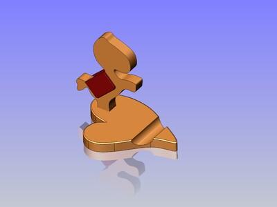 馬上發手机支架-3d打印模型