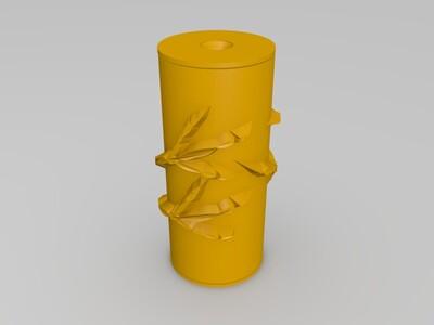 沙压花轮-3d打印模型