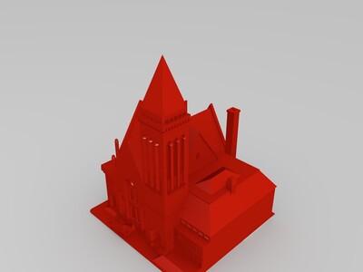 丹佛-长老会教堂-3d打印模型