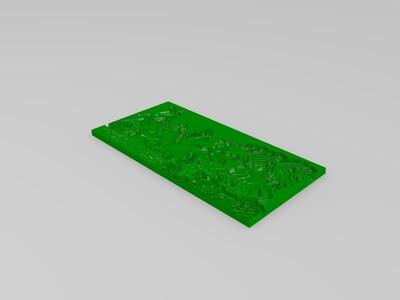 八骏马图-3d打印模型
