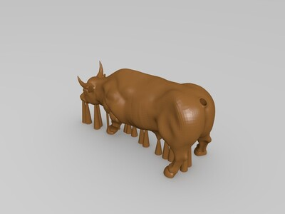公牛(添加支撑)-3d打印模型
