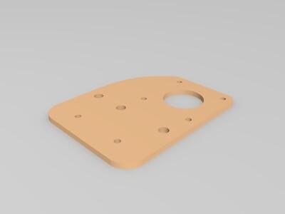 3d打印机远程挤出机支架+断料检测模块-3d打印模型
