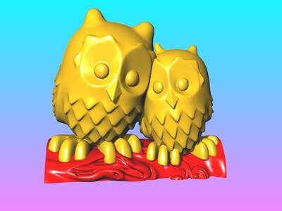真爱猫头鹰笔筒-3d打印模型