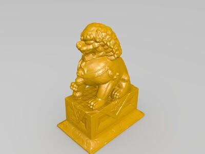 石狮子-3d打印模型