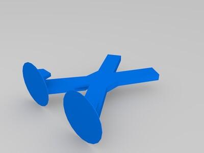 简易X手机支架-3d打印模型