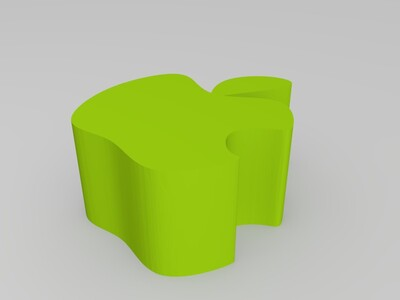 apple商标-3d打印模型
