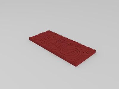 背景墙装饰不规则花纹-3d打印模型
