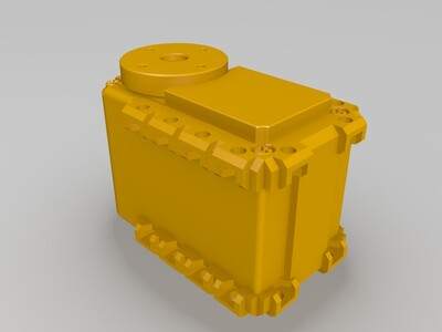 robotis ax-12A 舵机模型-3d打印模型