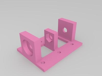 丝杆支架-3d打印模型