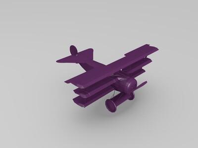 三翼战斗机-3d打印模型