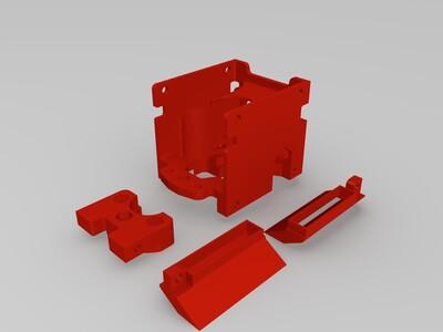 Kossel 三角洲打印機使用 BLTouch 探針的雙側吹風扇系統-3d打印模型