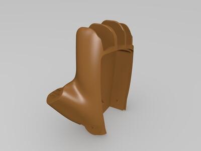 打印的右手手套-3d打印模型