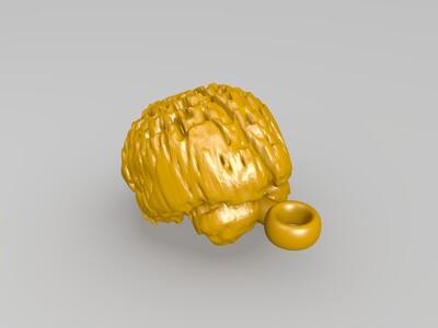 大脑钥匙扣-3d打印模型