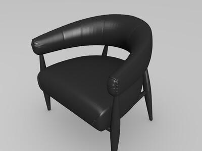 西式椅子-3d打印模型