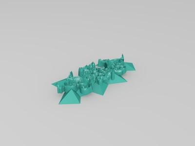 多边形项链-3d打印模型