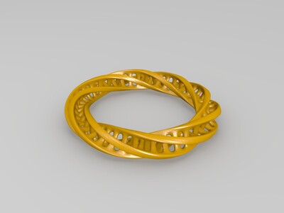 莫比乌斯戒指-3d打印模型