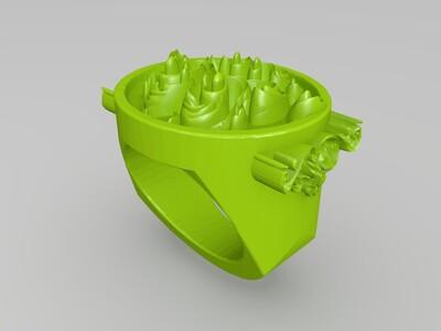 花戒指-3d打印模型
