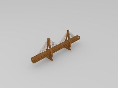 铜陵长江公铁大桥-3d打印模型
