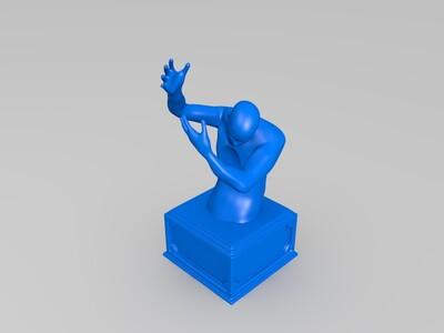 握笔的雕像-3d打印模型