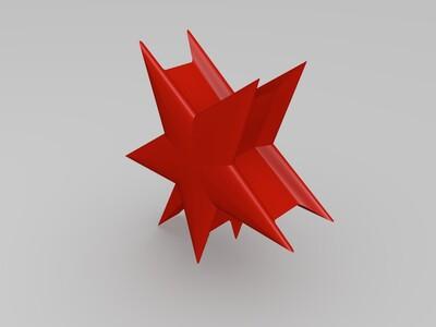 五角星吊坠-3d打印模型