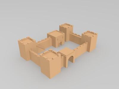 城楼-3d打印模型