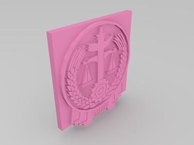 法院徽标-3d打印模型