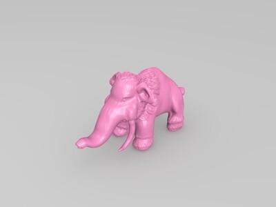 猛犸象-3d打印模型