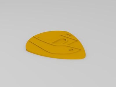 吉他拨片-3d打印模型