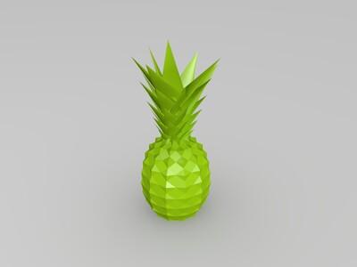 双色 渐变色 菠萝-3d打印模型