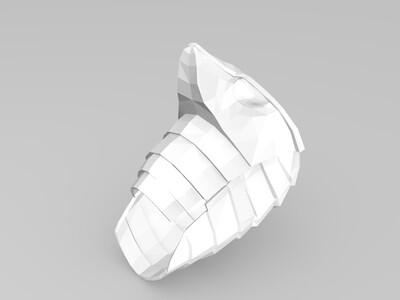 毒蛇头盔-3d打印模型