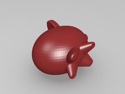 小猪存钱罐-3d打印模型