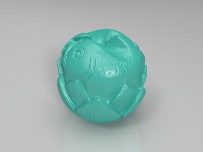莲花太极鱼-3d打印模型