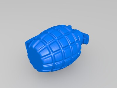 高解析手榴彈-3d打印模型