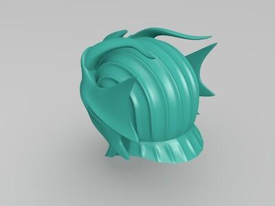 英雄联盟慎的头盔-3d打印模型