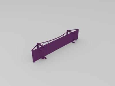 悬索桥-3d打印模型